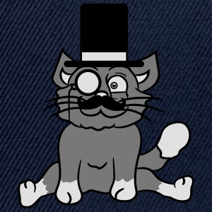 sir mr mustache monocle glasses cylinder hat gentl T-Shirts - Snapback Cap