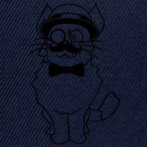 kitten sir mr mustache monocle glasses cylinder be T-Shirts - Snapback Cap