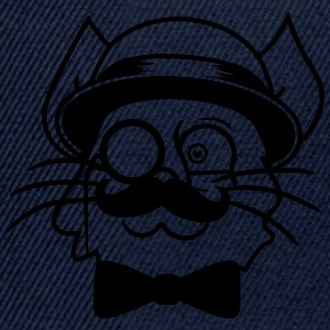 face head sir mr mustache monocle glasses cylinder T-Shirts - Snapback Cap