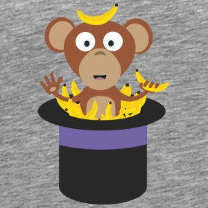 sweet monkey with bananas in the hat Tops - Men's Premium T-Shirt