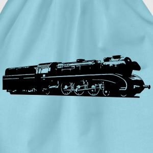 dampflok railroad locomotive T-Shirts - Drawstring Bag