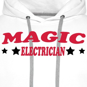 Magic electrician T-skjorter - Premium hettegenser for menn