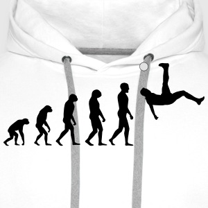 Evolution Football #1 - Overhead kick - Men's t-sh - Men's Premium Hoodie