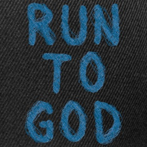 Run to god Langarmshirts - Snapback Cap