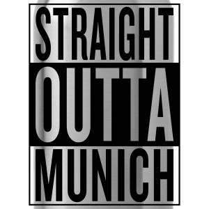 straight outta Munich T-Shirts - Trinkflasche