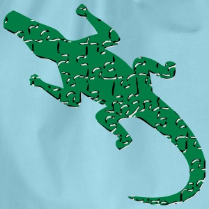 Alligator art puzzle pattern T-Shirts - Drawstring Bag