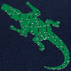 Alligator art puzzle pattern T-Shirts - Snapback Cap
