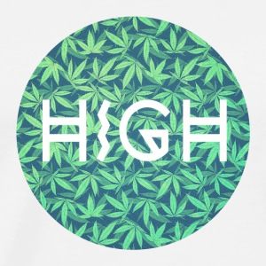 HIGH / cannabis Hipster Typo - Pattern Design  Top - Maglietta Premium da uomo