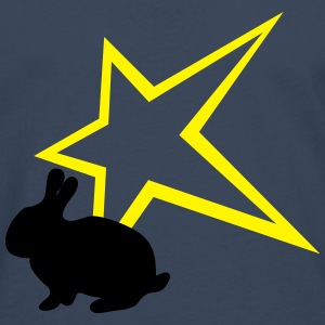 Bunny with star - Men's Premium Longsleeve Shirt