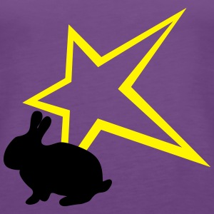 Bunny with star - Women's Premium Tank Top