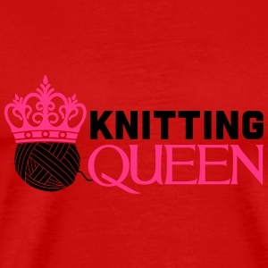 Knitting queen Long Sleeve Shirts - Men's Premium T-Shirt