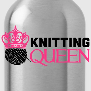 Knitting queen T-shirts - Drikkeflaske