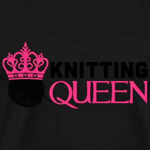 Knitting queen Topper - Premium T-skjorte for menn