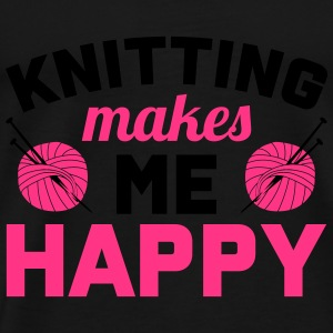 Knitting makes me happy Toppe - Herre premium T-shirt