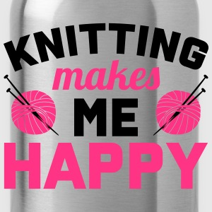 Knitting makes me happy Tops - Trinkflasche