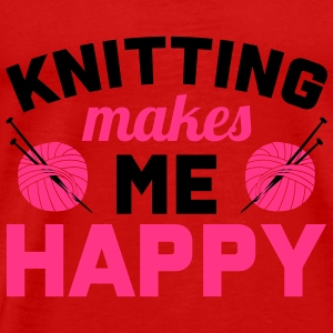 Knitting makes me happy Tops - Männer Premium T-Shirt