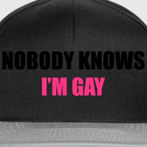 Nobody Knows I'm Gay T-shirts - Snapback cap