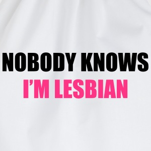 NobodyKnowsI'mLesbian1 T-Shirts - Drawstring Bag