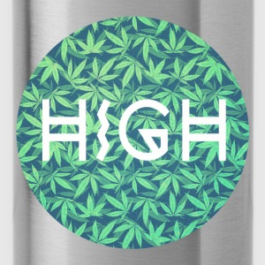HIGH / cannabis Hipster Typo - Pattern Design  Bags & Backpacks - Water Bottle