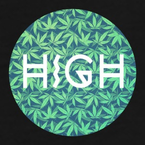 HIGH / cannabis Hipster Typo - Pattern Design  Bags & Backpacks - Men's Premium T-Shirt