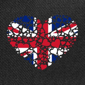 heart United Kingdom T-Shirts - Snapback Cap
