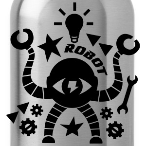 Roboter T-Shirts - Trinkflasche