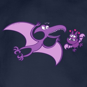 Bat Madly in Love with a Pterodactylus Hoodies - Organic Short-sleeved Baby Bodysuit