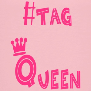 #tag Queen printed with pink glitter - Kids' Premium T-Shirt
