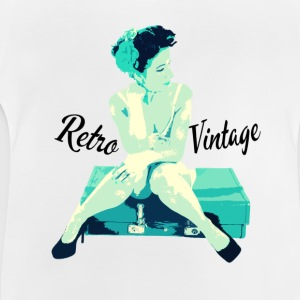 Retro Vintage Pin Up Girl - Baby T-Shirt