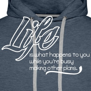 cool quote  T-Shirts - Men's Premium Hoodie