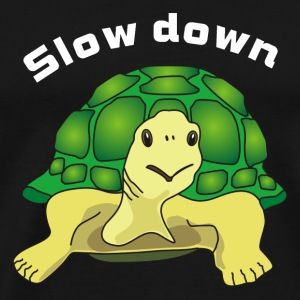 slow down Mugs & Drinkware - Men's Premium T-Shirt