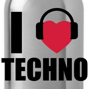 I LOVE TECHNO 1 Magliette - Borraccia