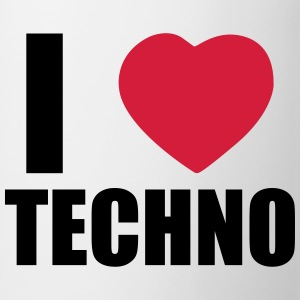 I LOVE TECHNO 2 T-shirts - Mok