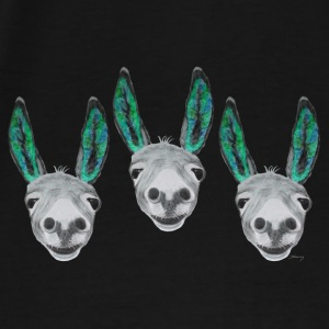3 coloured donkeys / 3 farbige Esel Bags & Backpacks - Men's Premium T-Shirt