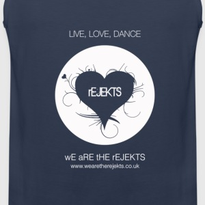 Rejekt Music - Live Love Dance Design - White Logo - Men's Premium Tank Top