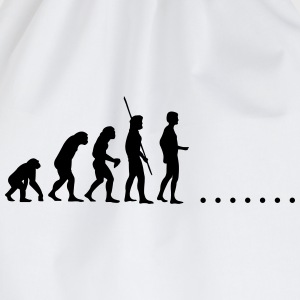 Evolution in nirgends Shirt - Turnbeutel