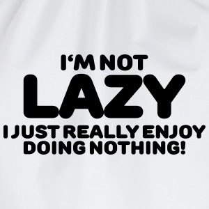 I'm not lazy Long Sleeve Shirts - Drawstring Bag