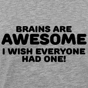 Brains are awesome Langærmede T-shirts - Herre premium T-shirt
