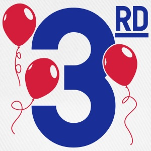 Happy 3rd Birthday Langarmshirts - Baseballkappe