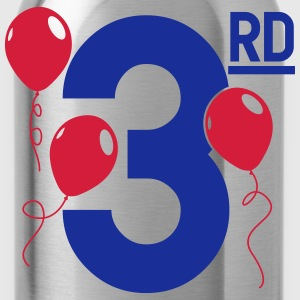 Happy 3rd Birthday Langarmshirts - Trinkflasche