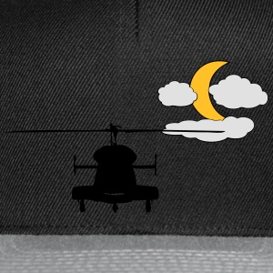 Helicopter with Moon - Snapback Cap