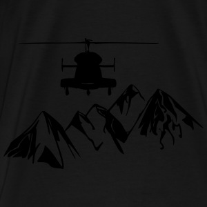 Helicopter over mountains - Men's Premium T-Shirt
