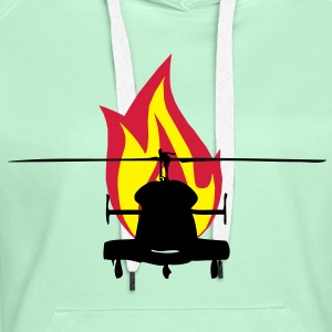 Helicopter with fire - Women's Premium Hoodie