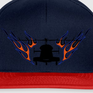Helicopter with flames - Snapback Cap
