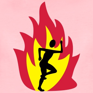 Jogger with flames - Women's Premium T-Shirt