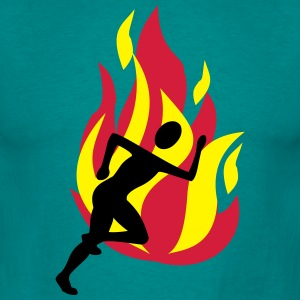 Runners with flames - Men's T-Shirt