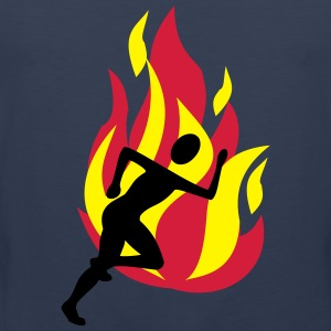 Runners with flames - Men's Premium Tank Top