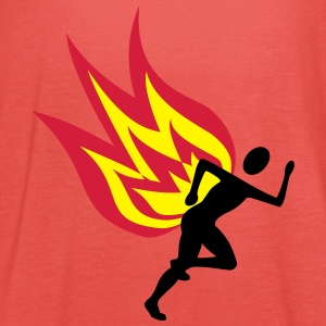 Runners with flames - Women's Tank Top by Bella