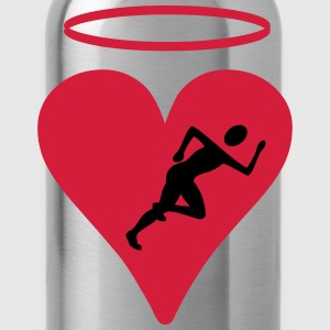Jogger with heart - Water Bottle