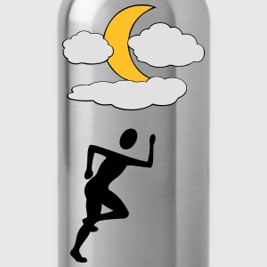 Jogger with Moon - Water Bottle